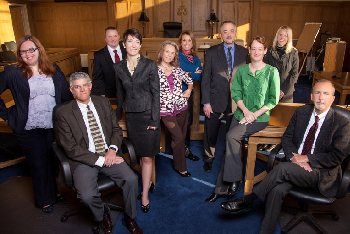 2012 Staff & Attorney Group Picture:  Sarah Johnson, Greg Weisz (sitting), back – Dustin Richards, Jodi Shea, Jeannie Czech, Devon O'Connell, Paul Schierer, Susan Horan, Megan Overmann Goetz and Robert Southard sitting in front.