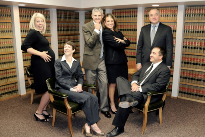 2011 Attorneys hamming it up. Left to right: Megan, Greg, Devon, Paul, Jodi and Antonio
