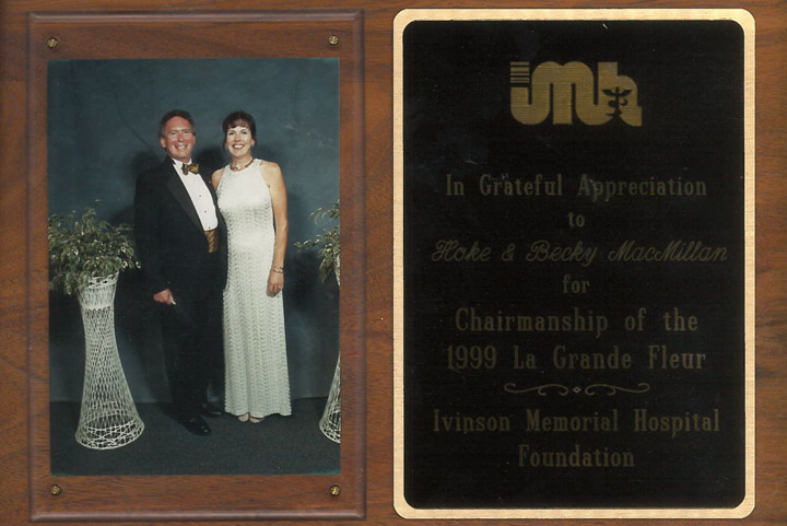 Hoke and Becky MacMillan at the IMH Gala, 1999