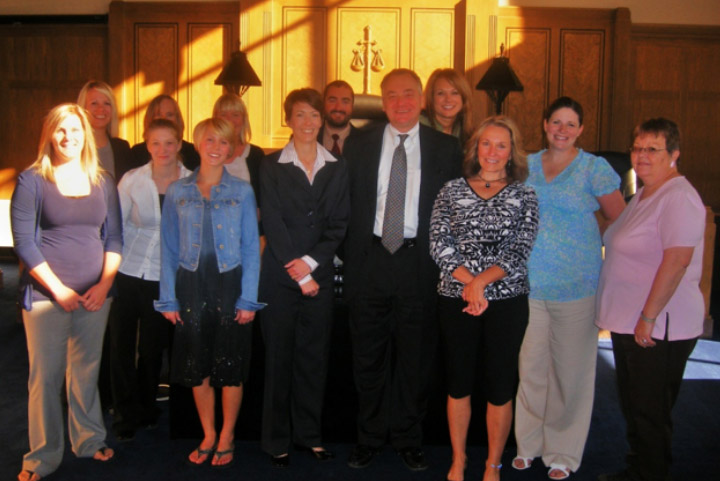 Pence and MacMillan attorneys and staff at Jodi's swearing in, October 1, 2010