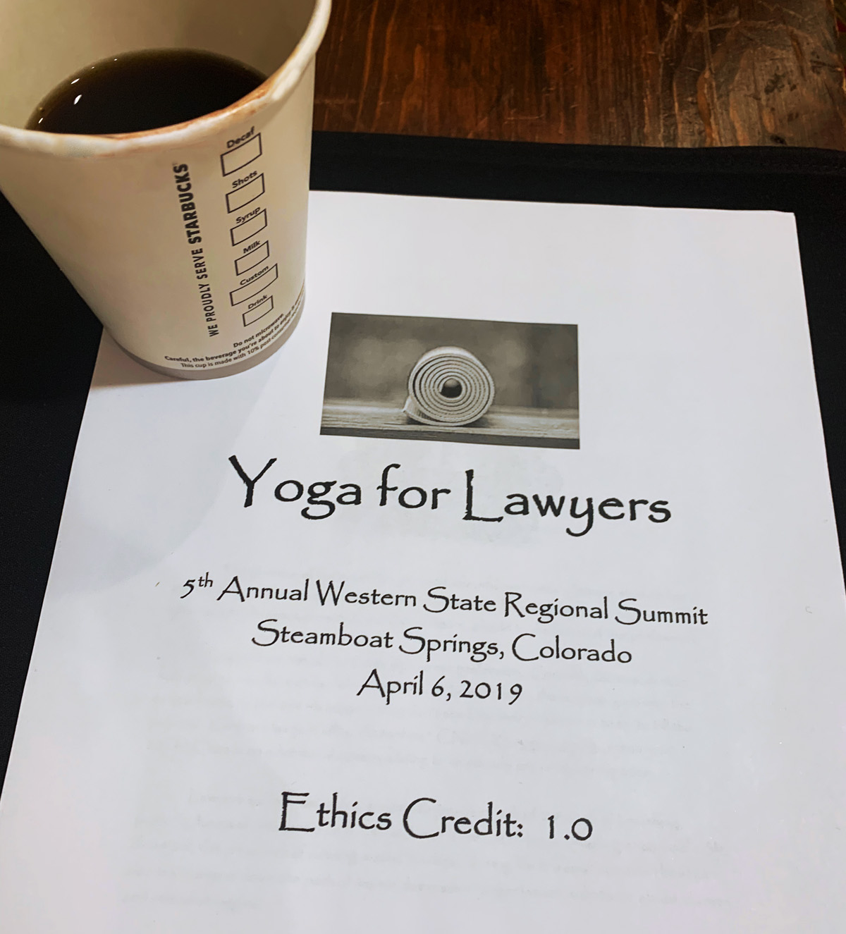 Steamboat Summit - Yoga for Lawyers 4-2019