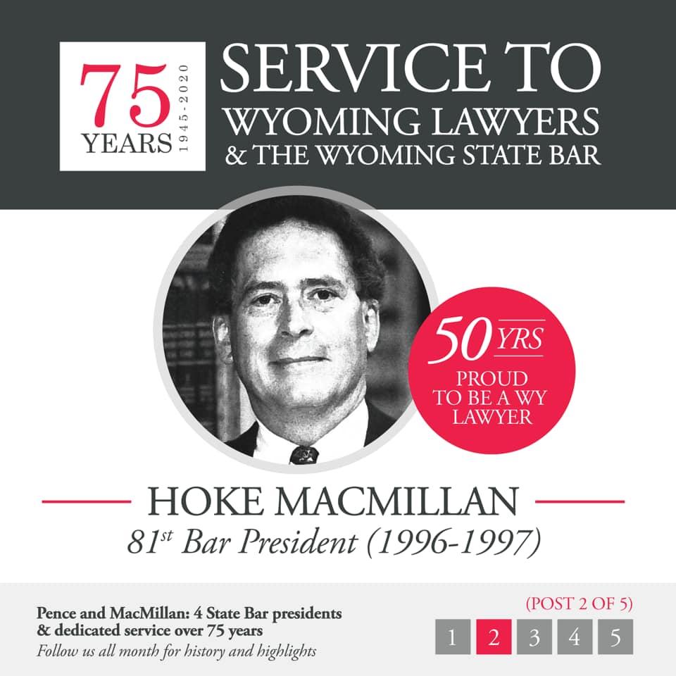 Hoke MacMillan 81st Bar President (1996-1997)