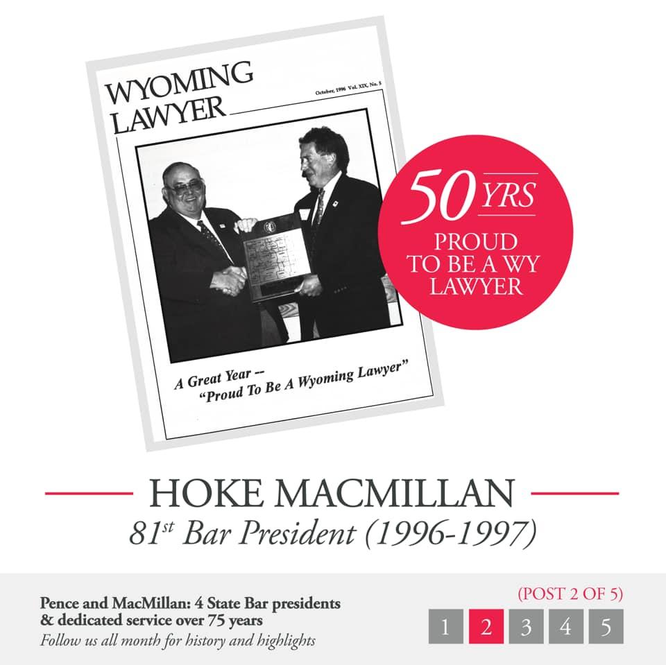 Hoke MacMillan 81st Bar President (1996-1997) Document