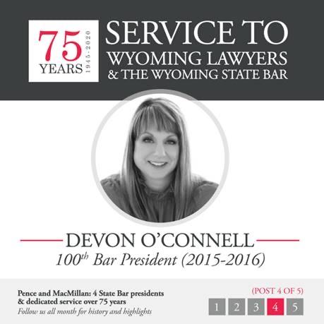 Devon O'Connell: 100th Bar President (2015-2016)