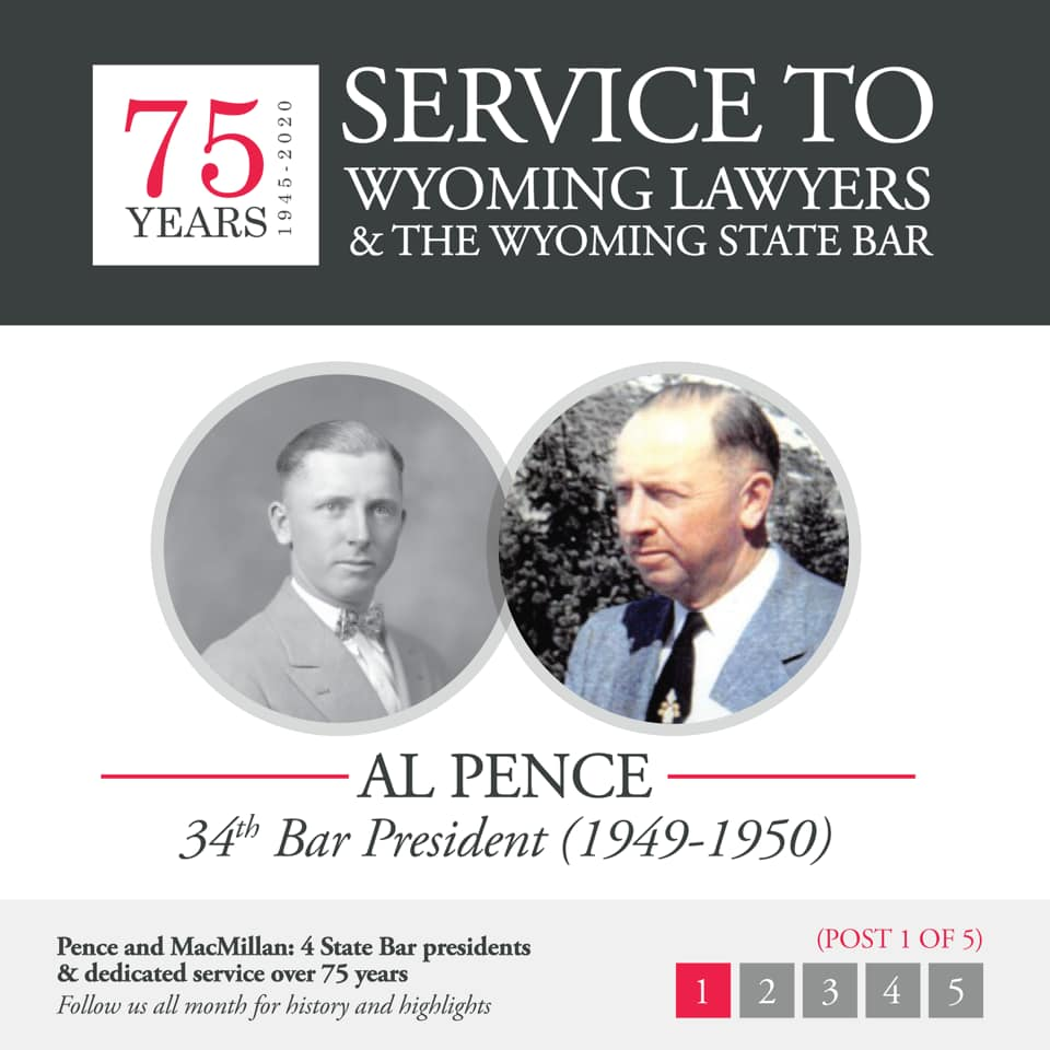 Al Pence 34th Bar President (1949-1950)
