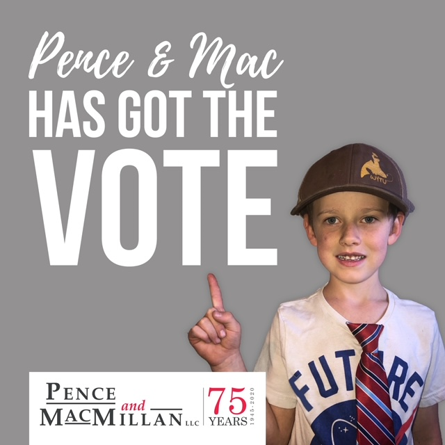 Pence and Mac has got the vote. Pence and MacMillan LLC 75 years.