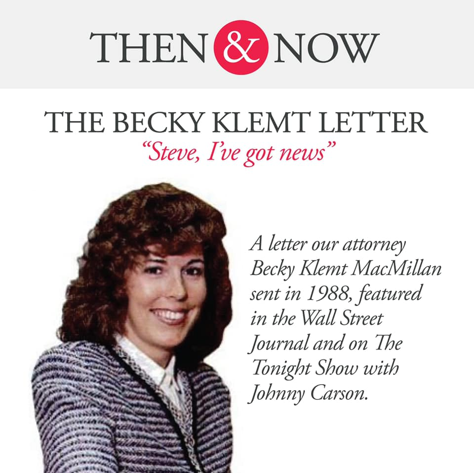 Then&Now: The Becky Klemt Letter