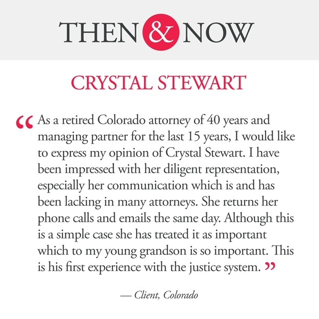 Then&Now: Crystal Stewart Client Quote