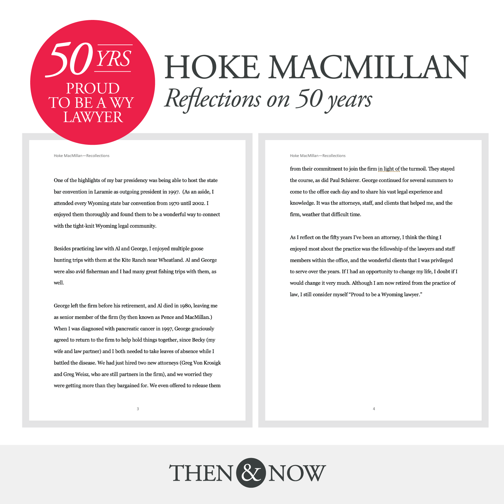 50 Years Proud to Be a Wyoming Lawyer: Hoke MacMillan Reflections on 50 Years