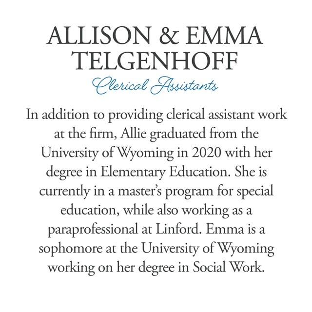 New Faces & New Shadows: Allison & Emma Telgenhoff