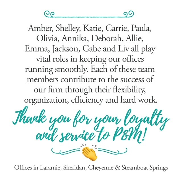Thank you for your loyalty and service to Pence and MacMillan!