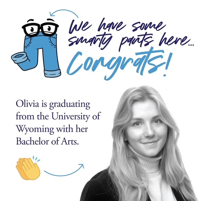 We have some smarty pants here... congrats! Olivia is graduating from UW with her Bachelor of Arts