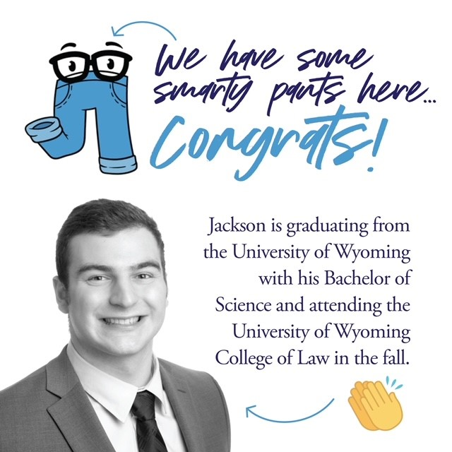 We have some smarty pants here... congrats! Jackson is graduating from UW and is attending the UW College of Law in the fall.